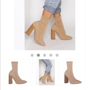 New Sock Style Tan Booties